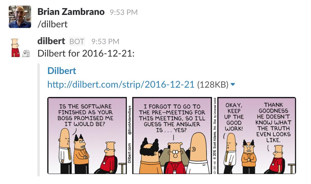 Dilbert in Slack